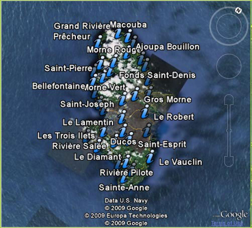carte informations martinique